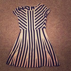 Sequin hearts girls stripes dress